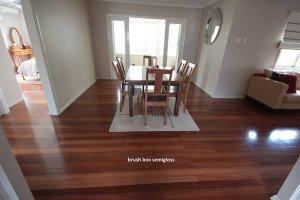 brush box semi gloss wooden floor