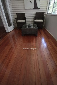 brush box semi gloss wooden floor