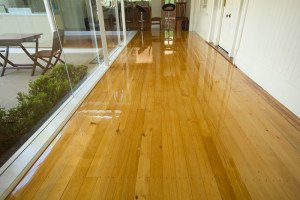 gloss wooden floor