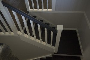 dark wooden floor and staircase