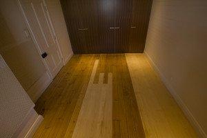mixed wooden floor