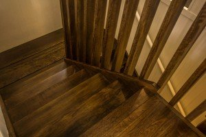 wooden floor staircase