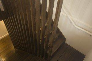 wooden floor staircase