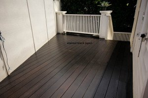 stained black japan outdoor wooden floor