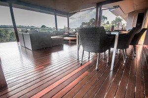 outdoor wooden floor