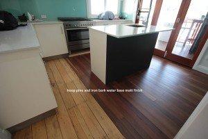 hoop pine and iron bark water base matte finish flooring