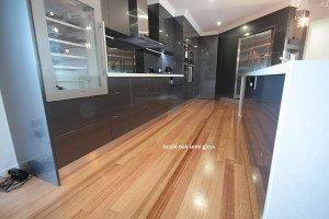 semi gloss oak floor