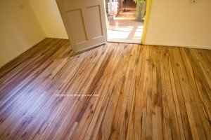 Timber wooden floor in a matte finish