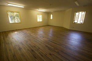 Wooden polished floor