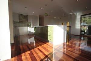 polished wooden floor