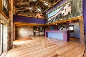 Polished wooden flooring