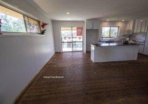 mixed hardwood flooring