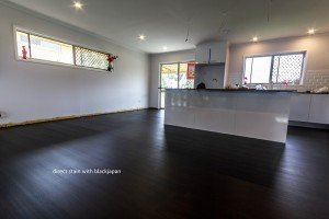 black japan wooden floor