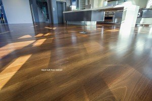 wooden floor stained