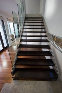 dark wooden floor stairs