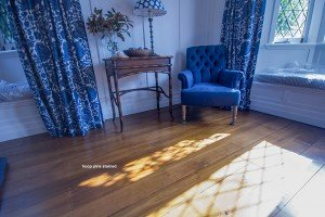 stained Wooden pine flooring