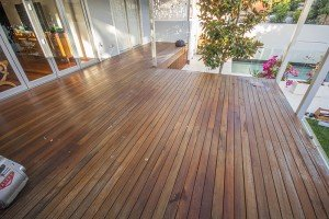old outdoor wooden floor