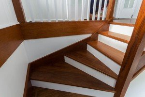 wooden floor and staircase
