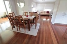 polished wooden floor